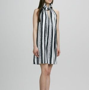 Rachel Zoe Muse Ruffle Halter Silk Dress Size 2